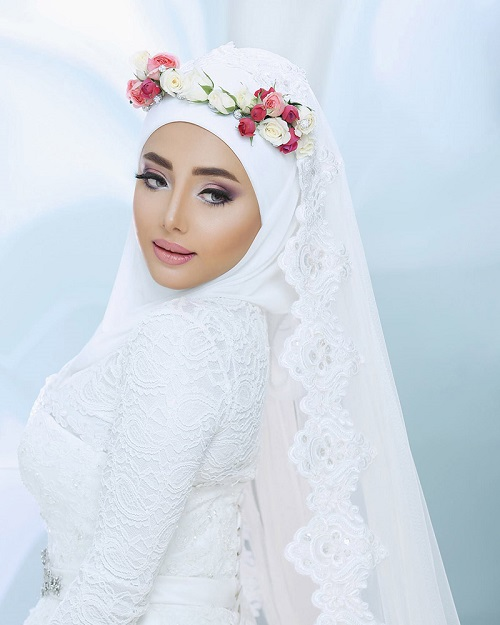 Bridal hijab styling abu dhabi