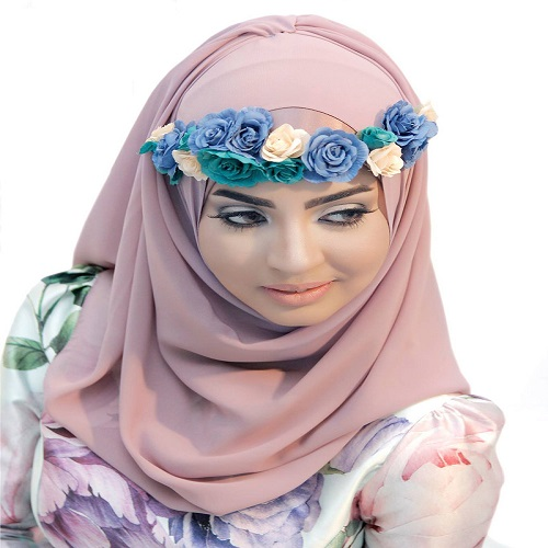 Bridal hijab styling salon abu dhabi